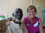 Jill with 85-year-old patient