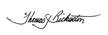 Bishop Bickerton Signature