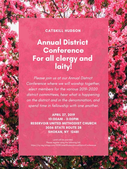 Catskill Hudson Annual District Conference