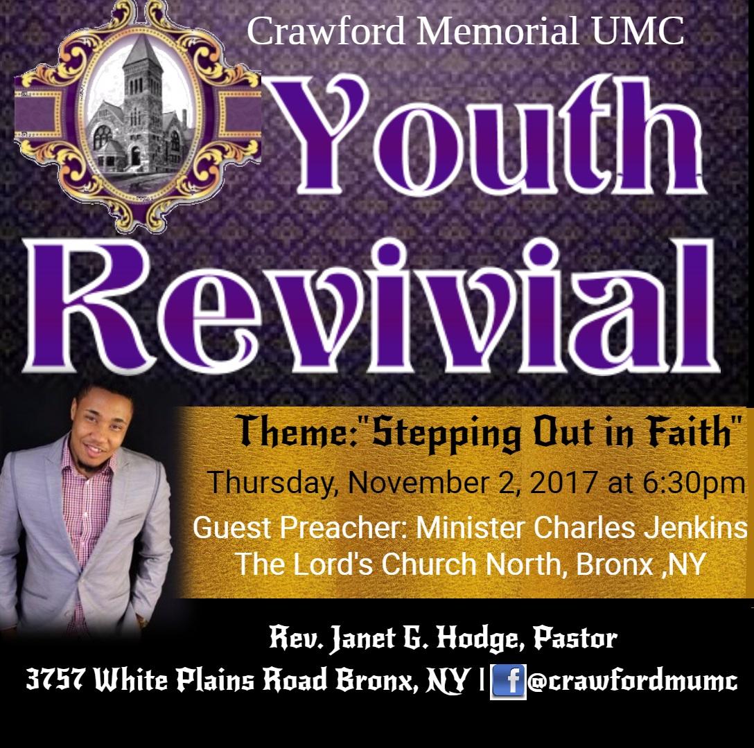 youth revival  bronx  crawford memorial